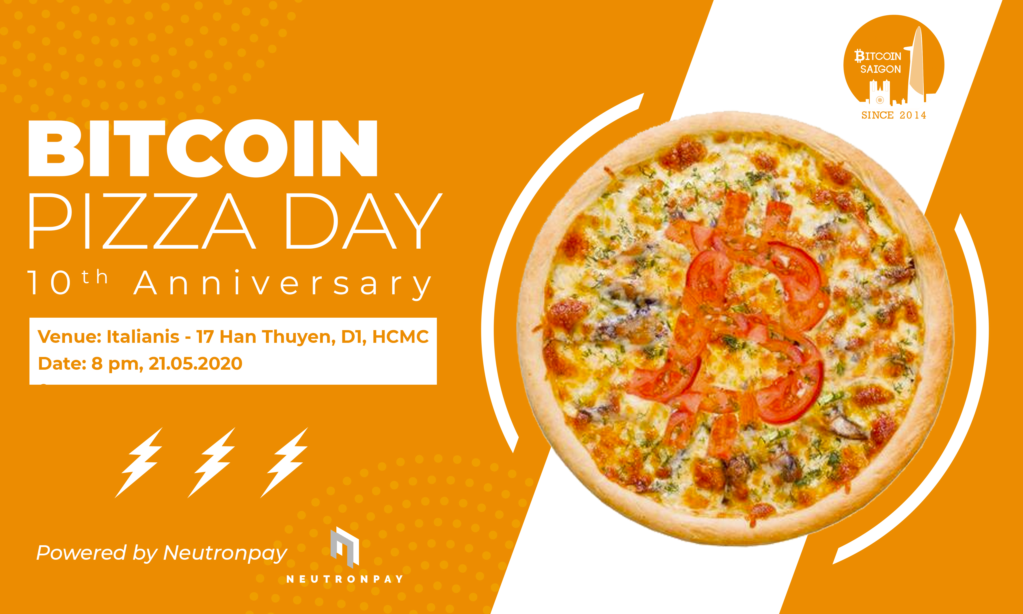 Bitcoin Pizza Day Flyer
