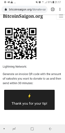 Fast & easy Lightning donations; made possible by Neutronpay